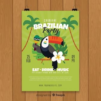 Szablon ulotki brazylijski karnawał party