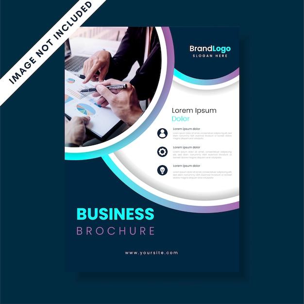 Szablon ulotki broszury biznesowe