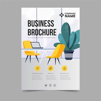 Szablon ulotki broszury biznesowej