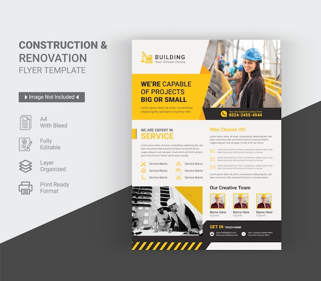 Szablon ulotki budowa i remont