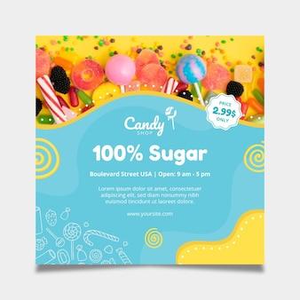 Szablon ulotki cukierki