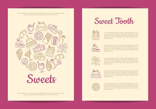 Szablon ulotki dla cukierni lub cukierni