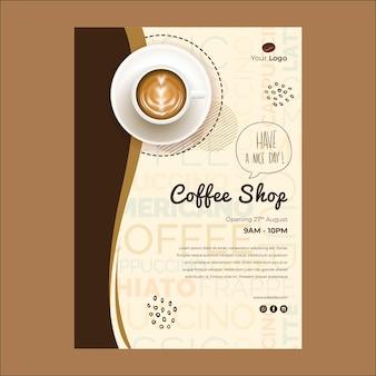 Szablon ulotki dla kawiarni