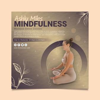 Szablon ulotki do kwadratu klasy mindfulness