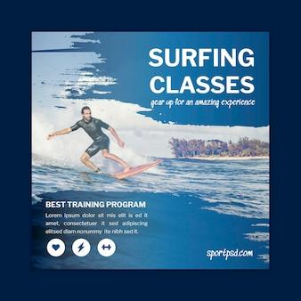 Szablon ulotki do surfowania