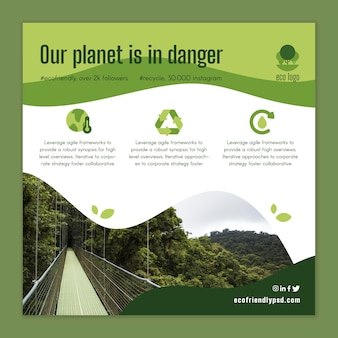 Szablon ulotki ekologia