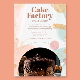 Szablon ulotki fabryki ciasta