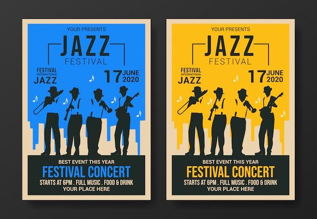 Szablon ulotki festiwalu jazzowego