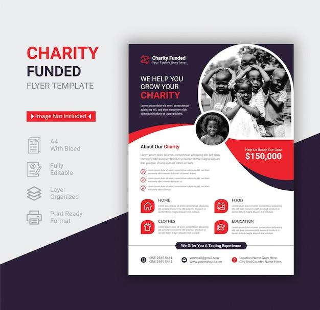Szablon ulotki finansowanej z funduszy charytatywnych