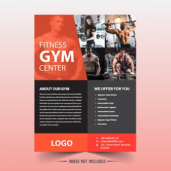 Szablon ulotki fitness / siłownia