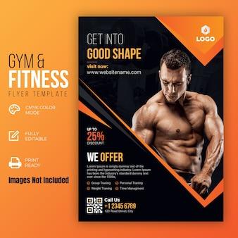 Szablon ulotki gym & fitness