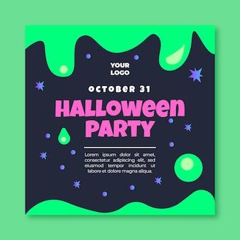 Szablon ulotki halloween w kwadraty