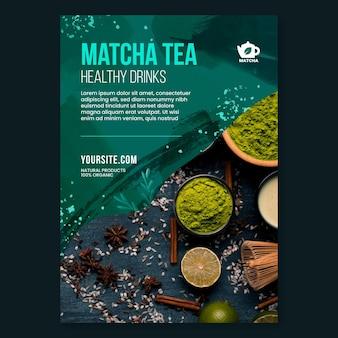 Szablon ulotki herbaty matcha