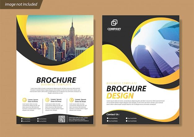 Szablon ulotki i broszury na okładkę dla raportu rocznego