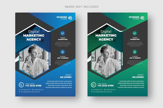 Szablon ulotki i projekt okładki broszury