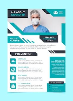 Szablon ulotki informacyjnej na temat koronawirusa