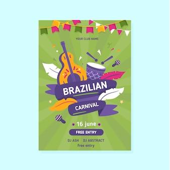 Szablon ulotki karnawał brazylijski