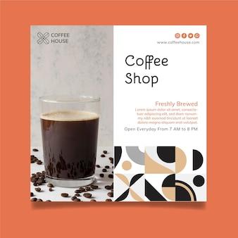 Szablon ulotki kawiarni w kwadraty