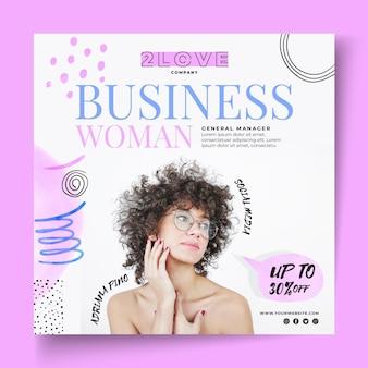 Szablon ulotki kobieta biznesu