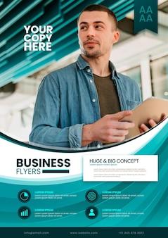 Szablon ulotki koncepcja biznesowa