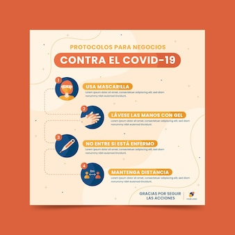 Szablon ulotki koronawirusa