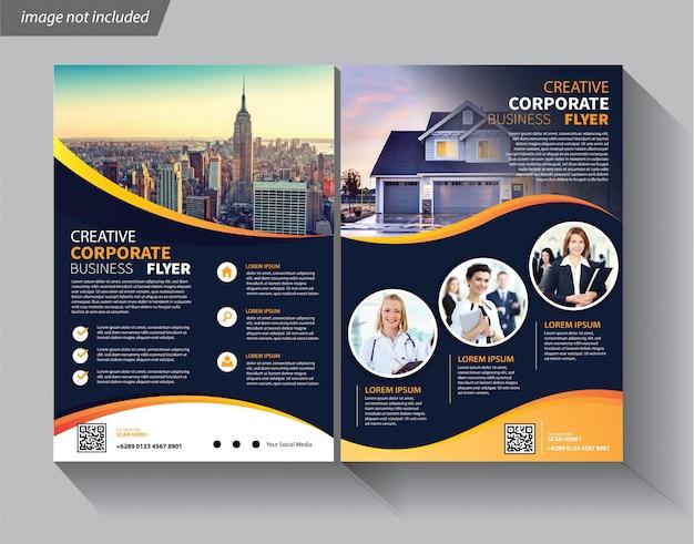 Szablon ulotki korporacyjnej broszury okładkowej
