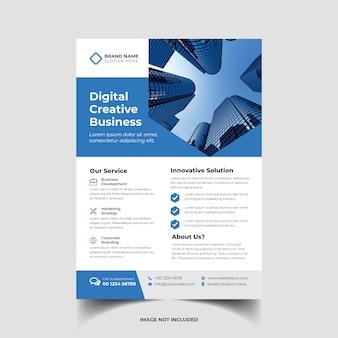 Szablon ulotki korporacyjnych kreatywny biznes