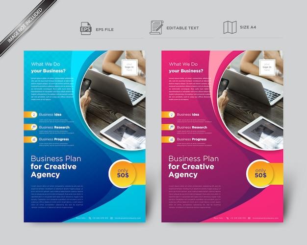 Szablon ulotki kreatywne kształty dla firm