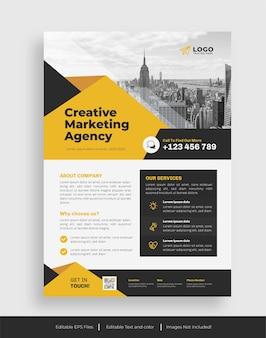 Szablon ulotki kreatywnej agencji marketingowej