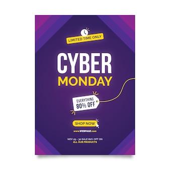 Szablon ulotki kreatywnych cyber poniedziałek