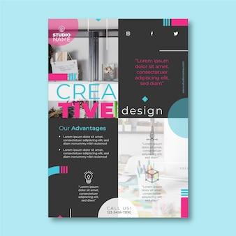 Szablon ulotki kreatywnych projektów