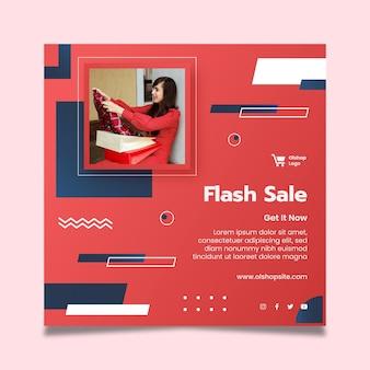 Szablon ulotki kwadratowej zakupów online