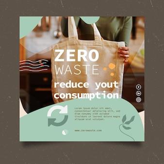 Szablon ulotki kwadratowej zero odpadów