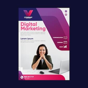 Szablon ulotki marketingu cyfrowego