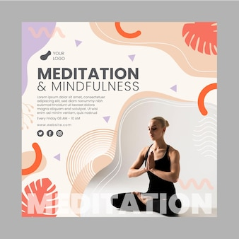 Szablon ulotki medytacji i uważności