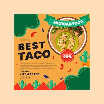 Szablon ulotki meksykańskiej żywności