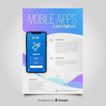 Szablon ulotki mobilnej aplikacji