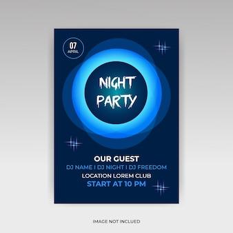Szablon ulotki na imprezę w klubie nocnym