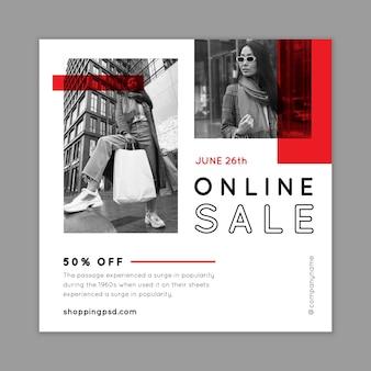 Szablon ulotki na zakupy online