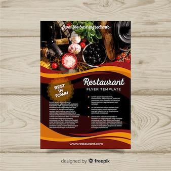 Szablon ulotki nowoczesne wykwintne restauracja
