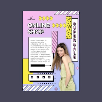 Szablon ulotki o zakupach online