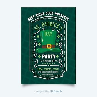Szablon ulotki patrick's day