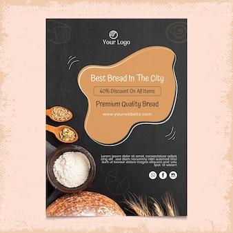 Szablon ulotki pionowej chleba