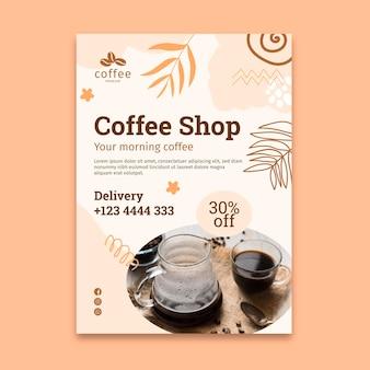 Szablon ulotki pionowej kawiarni