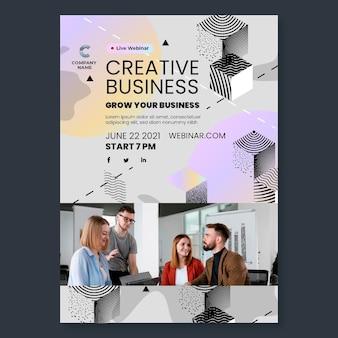 Szablon ulotki pionowej kreatywnej firmy