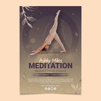 Szablon ulotki pionowej medytacja