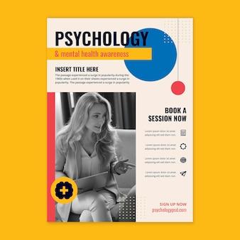Szablon ulotki pionowej psychologii