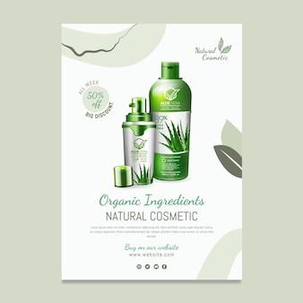 Szablon ulotki pionowej składników organicznych