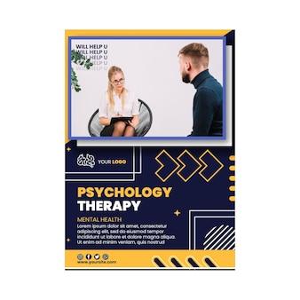 Szablon ulotki pionowej terapii psychologicznej