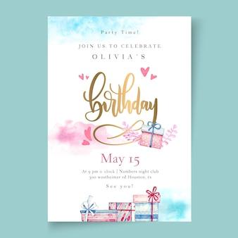 Szablon ulotki pionowej urodziny